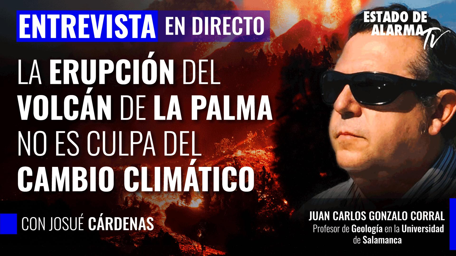 Imagen del video: Vulcanólogo: La erupción del volcán de la Palma no es culpa del Cambio Climático