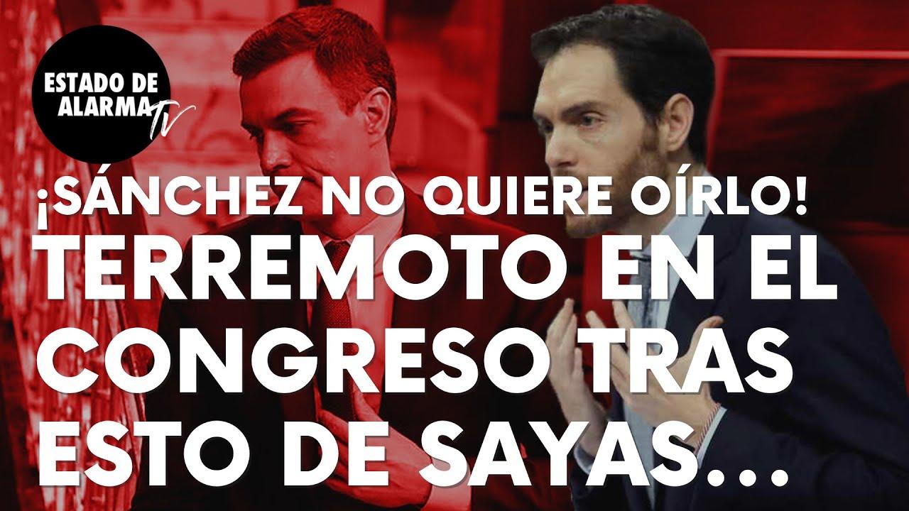 Imagen del video: Sergio Sayas provoca un terremoto en el Congreso tras esto al Gobierno
