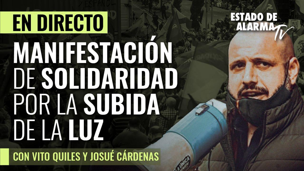 Imagen del video:  DIRECTO   Manifestación por la subida de la luz del sindicato solidaridad