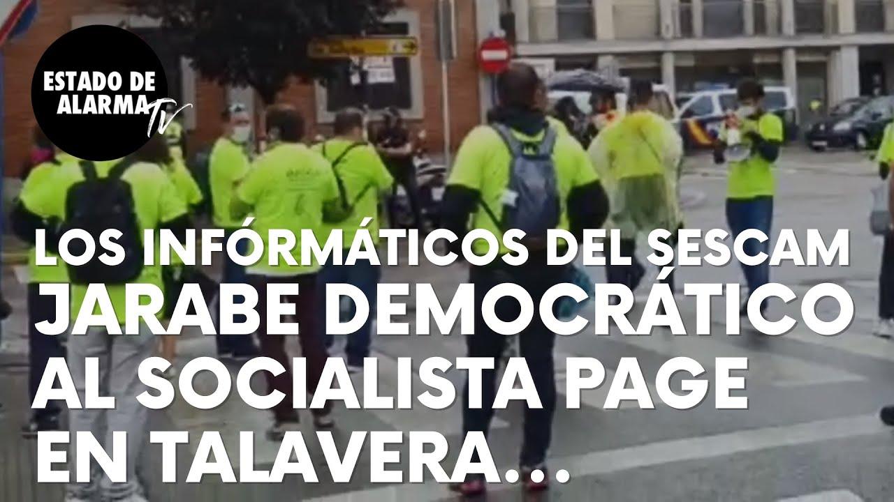 Imagen del video: Así recibe jarabe democrático el socialista García-Page en Talavera