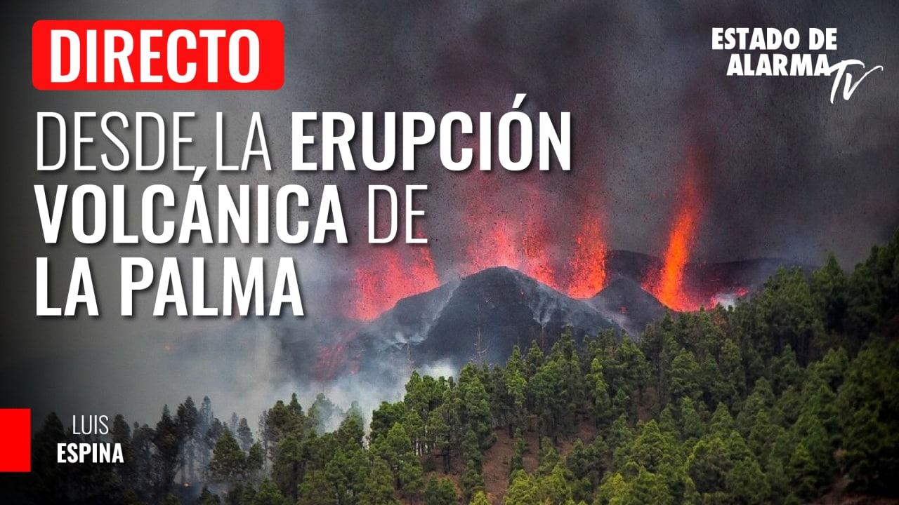 Imagen del video: Nos acercamos al volcán en erupción de La Palma   DIRECTO