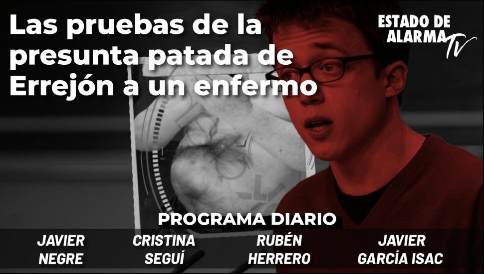 Imagen del video: Las pruebas de la presunta patada de Errejón a un enfermo; con Negre, Seguí, Herrero, Gcía. Isac