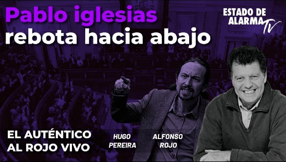 Imagen del video: Pablo Iglesias rebota hacia abajo